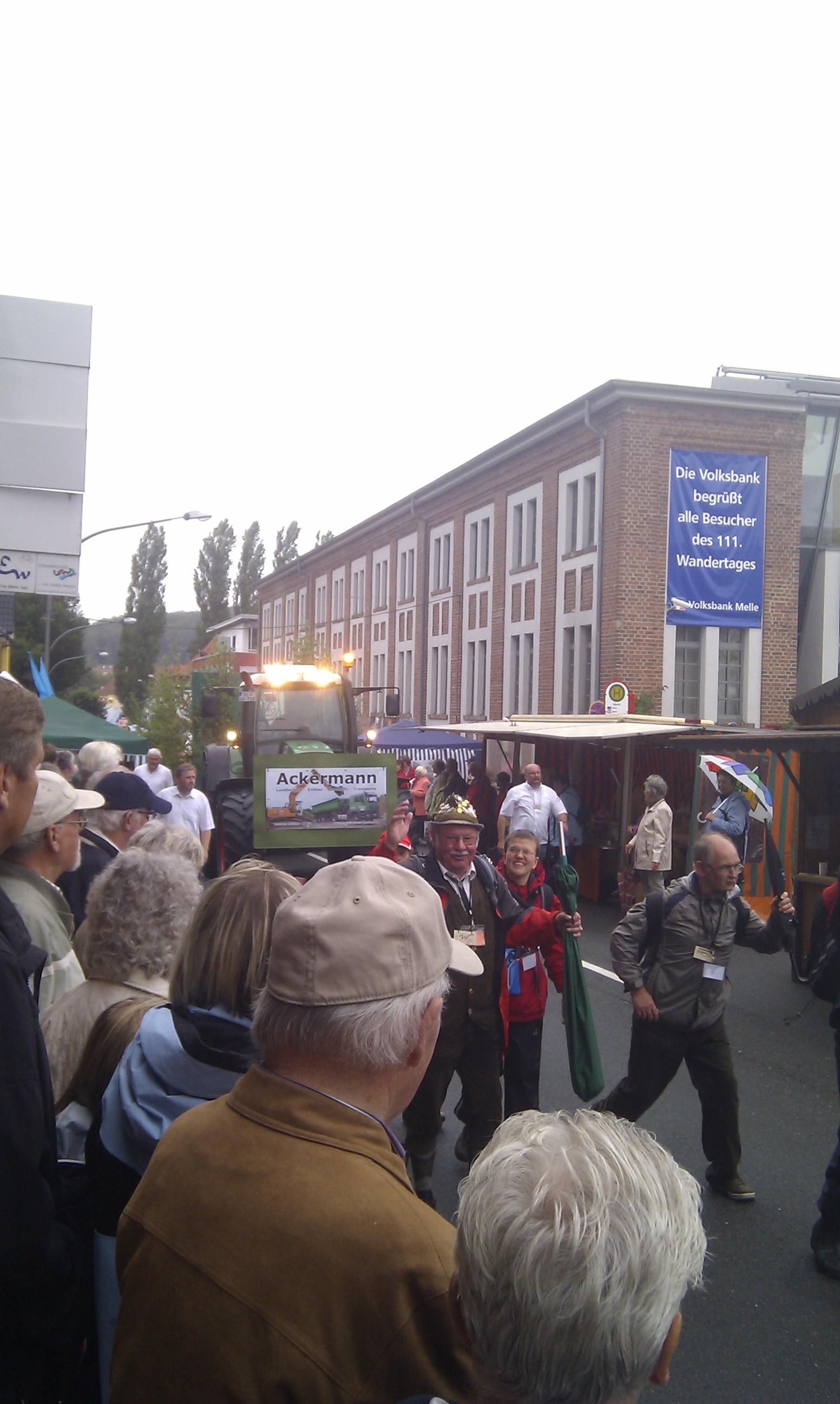 Sponsor auf dem 111. Deutschen Wandertag in Melle